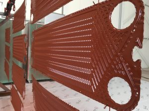 Baked Phenol coating protects the plate of the Plate Heatexchanger