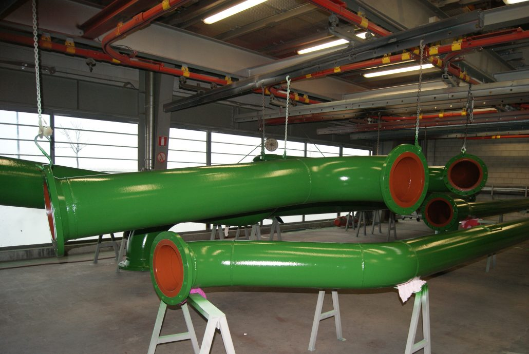 Coolwater pipeline internal coated